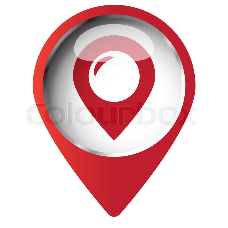 symbol place icon map vector colourbox positionierung grafik system vektor
