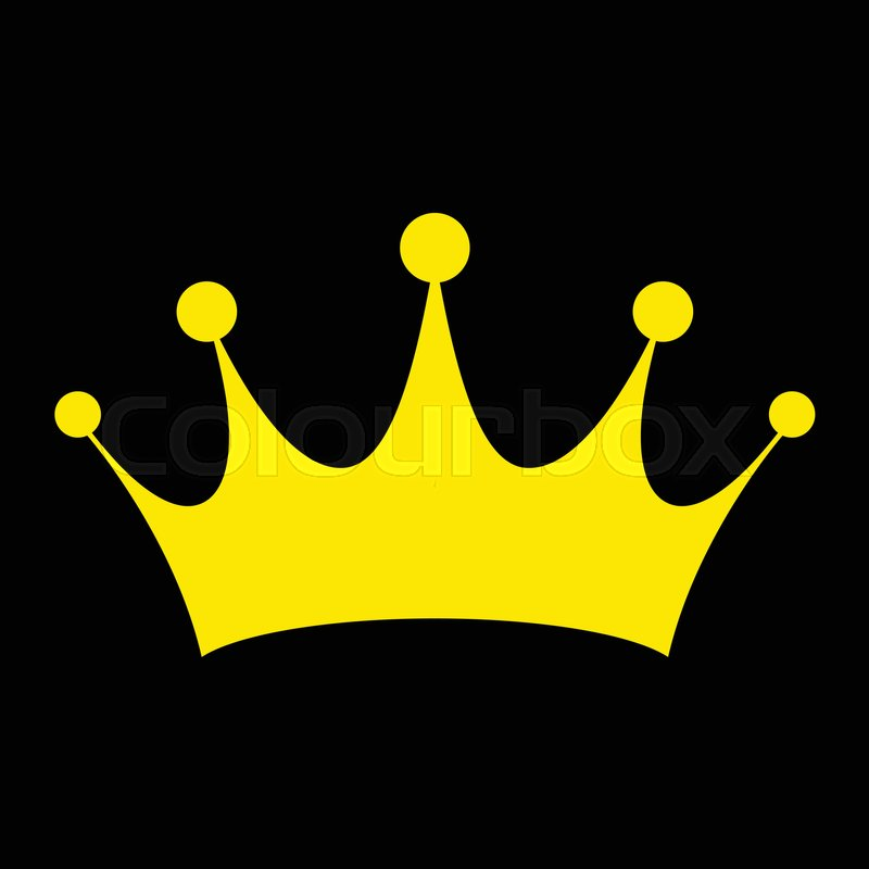 Crown gold vector icon...