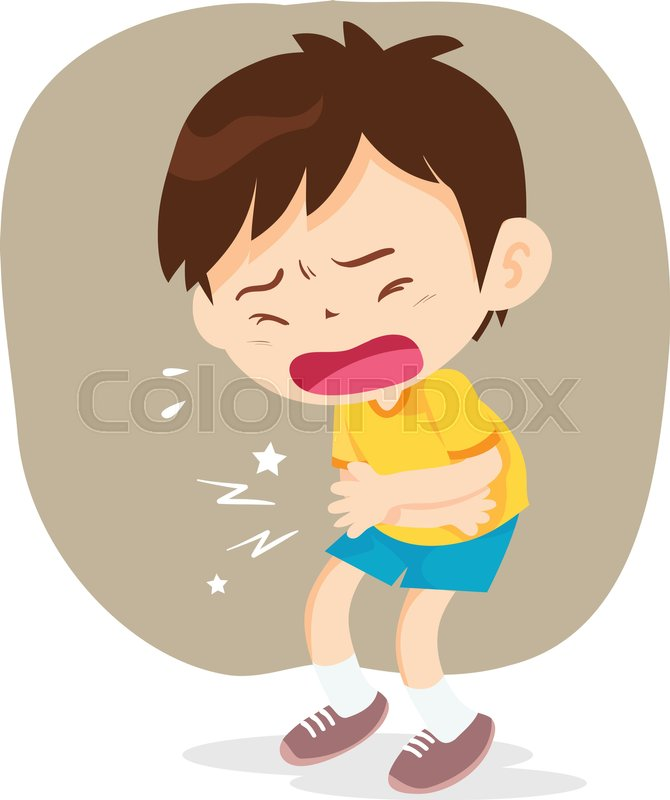 boy having stomach ache  cartoon style vector illustration hungry clipart images hungary clip art