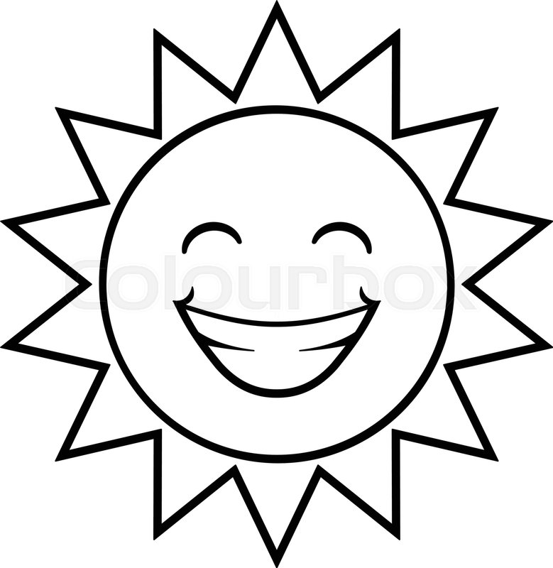 sun border black and white