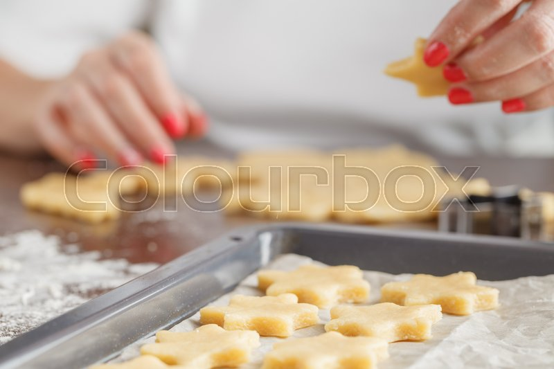 Assorted Christmas Biscuits Homemade Stock Image Colourbox
