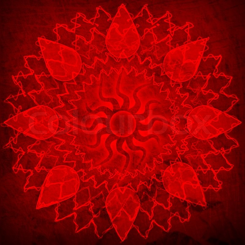 red spirutal sun background