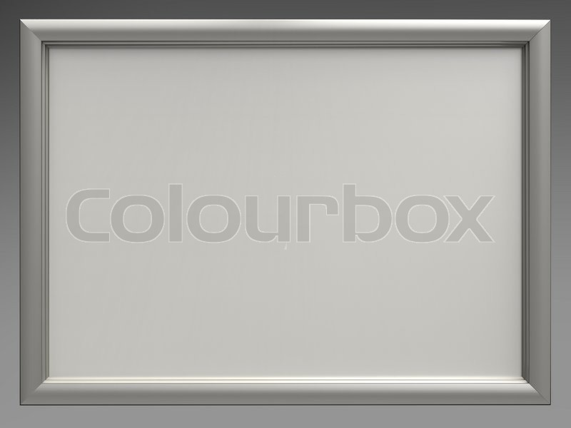 3d illustration of white board and silver frame isolate | Stock ...