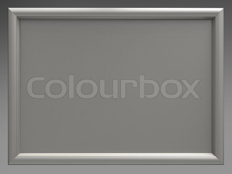 3D Darstellung der weiße Tafel und silbernen Rahmen zu isolieren ...