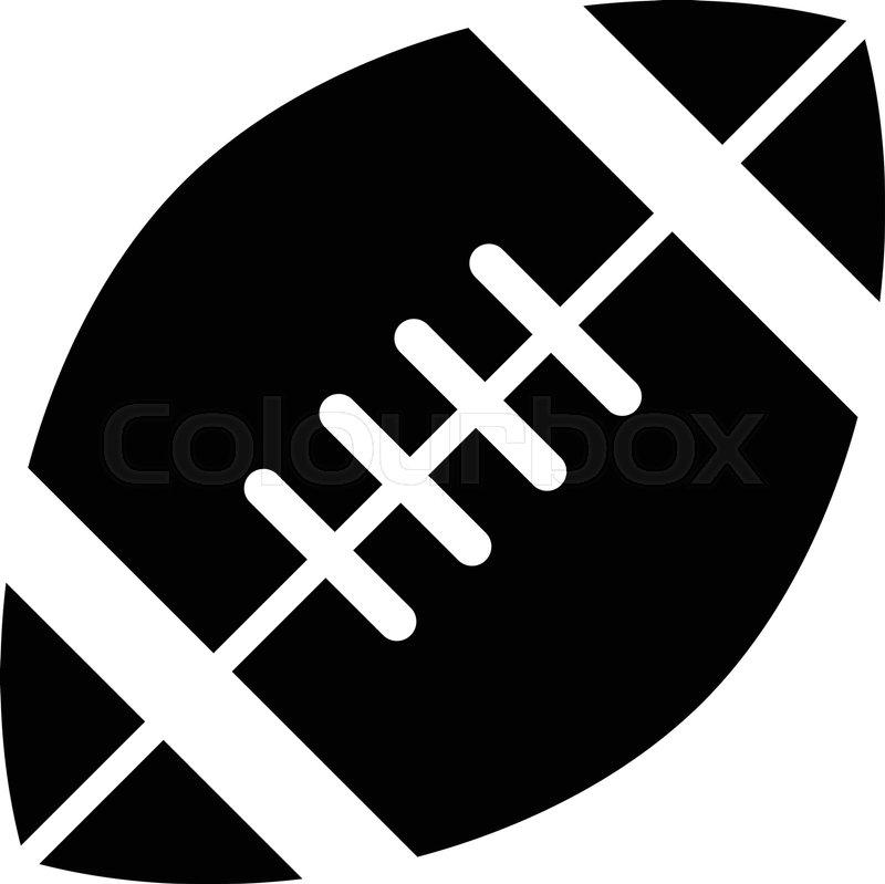 American Football Logo Vector Icon Stock Vector Colourbox