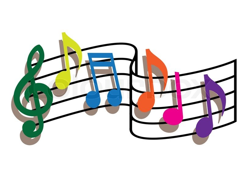 Free Music Background Clipart Download Free Clip Art: Coloured Music Notes On The White Background