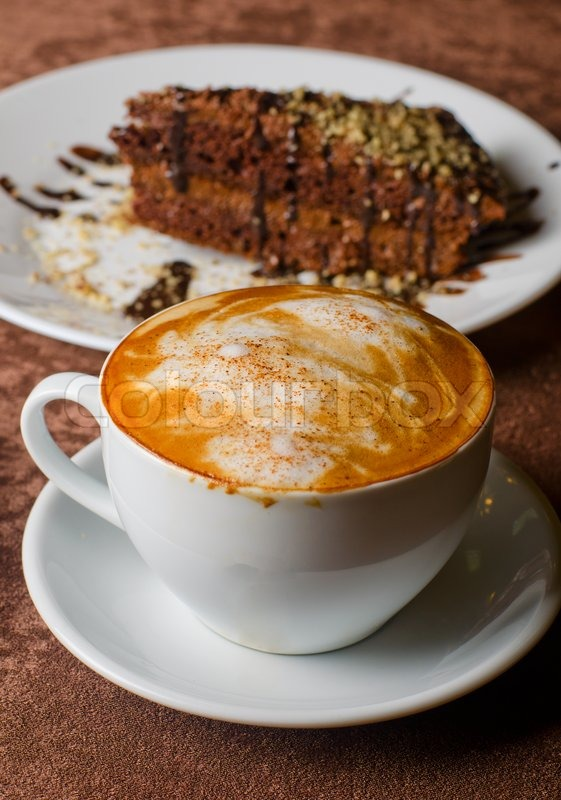 coffee and cakes coffee and dessert cakes at the table stock photo colourbox