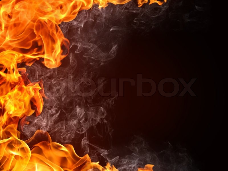 Fire Background. Fire isolated on black. | Stock Photo | Colourbox
