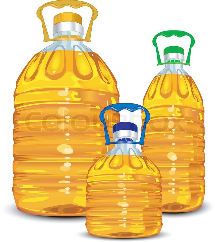 Three oil bottles diff...
