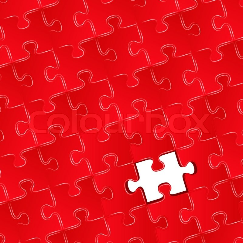 Jigsaw Puzzle With One Missing Piece Vector