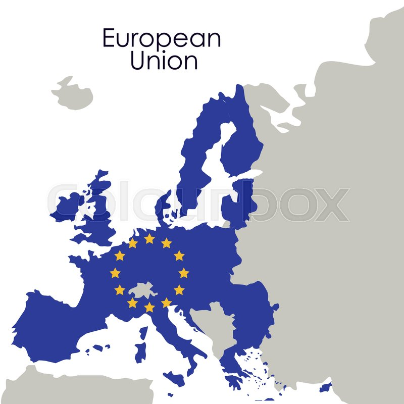 European union map icon. Europe nation and government theme ...