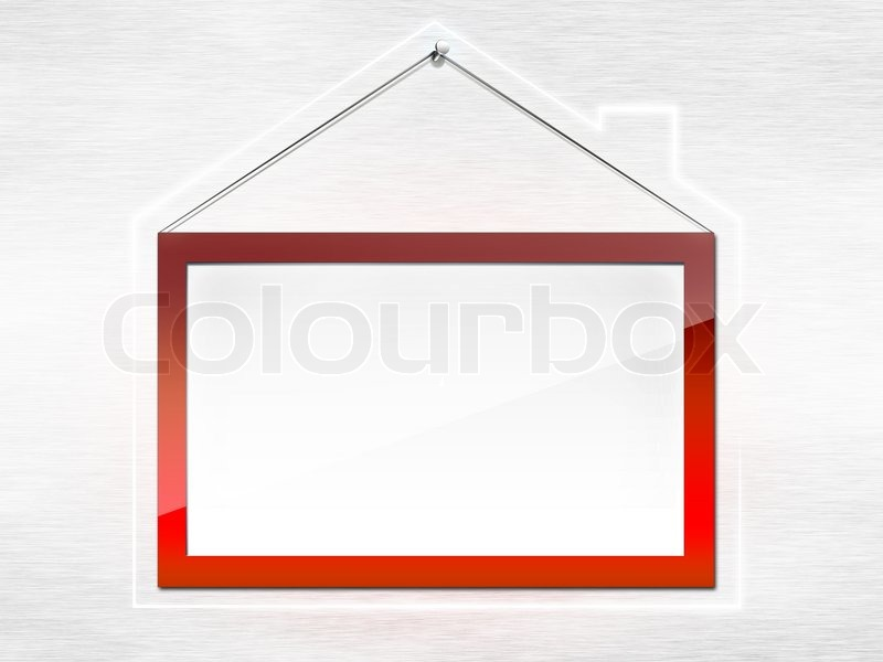 Rahmen für Immobilien in Form des Hauses . | Stockfoto | Colourbox