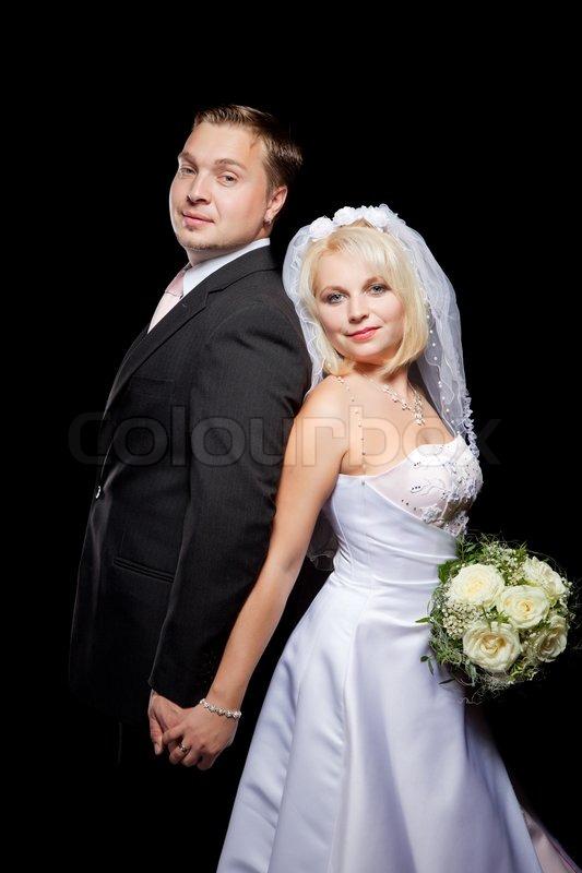 Célèbre Studio shot of beautiful wedding couple | Stock Photo | Colourbox PQ17