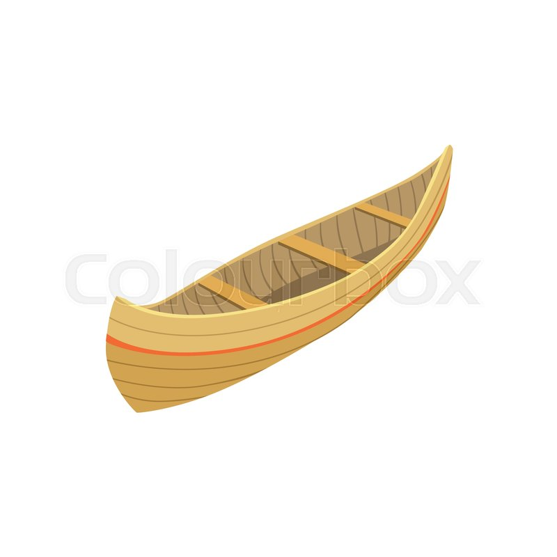 Indian Wooden Canoe Type Of Boat Icon Simple Childish Vector Illustration Isolated On White Background