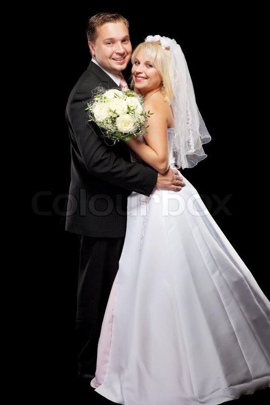Extrêmement Studio shot of beautiful wedding couple | Stock Photo | Colourbox FB92