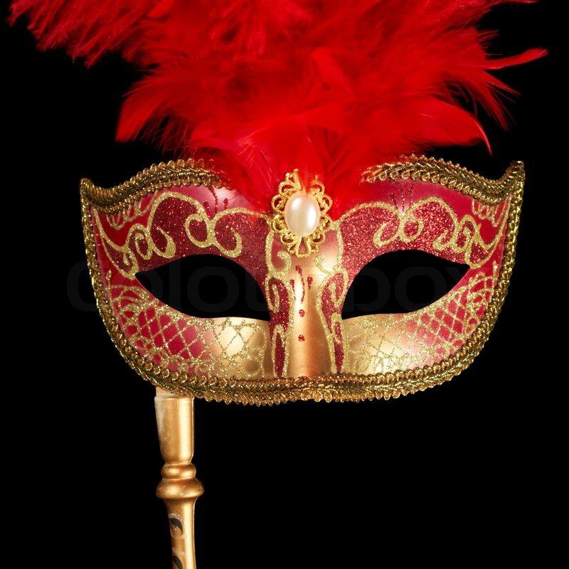 a festival mask on black stock photo colourbox