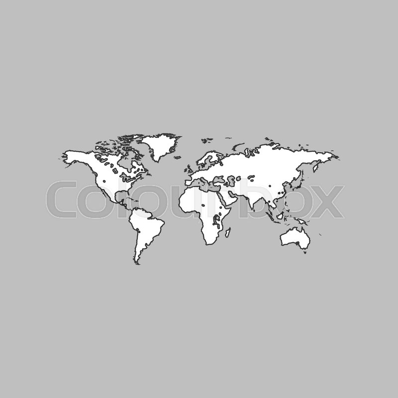 World map simple line vector button thin line illustration icon stock vector of world map simple line vector button thin line illustration icon gumiabroncs Choice Image
