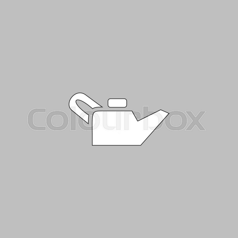 Engine Oil Simple Line Vector Button Thin Line Illustration Icon