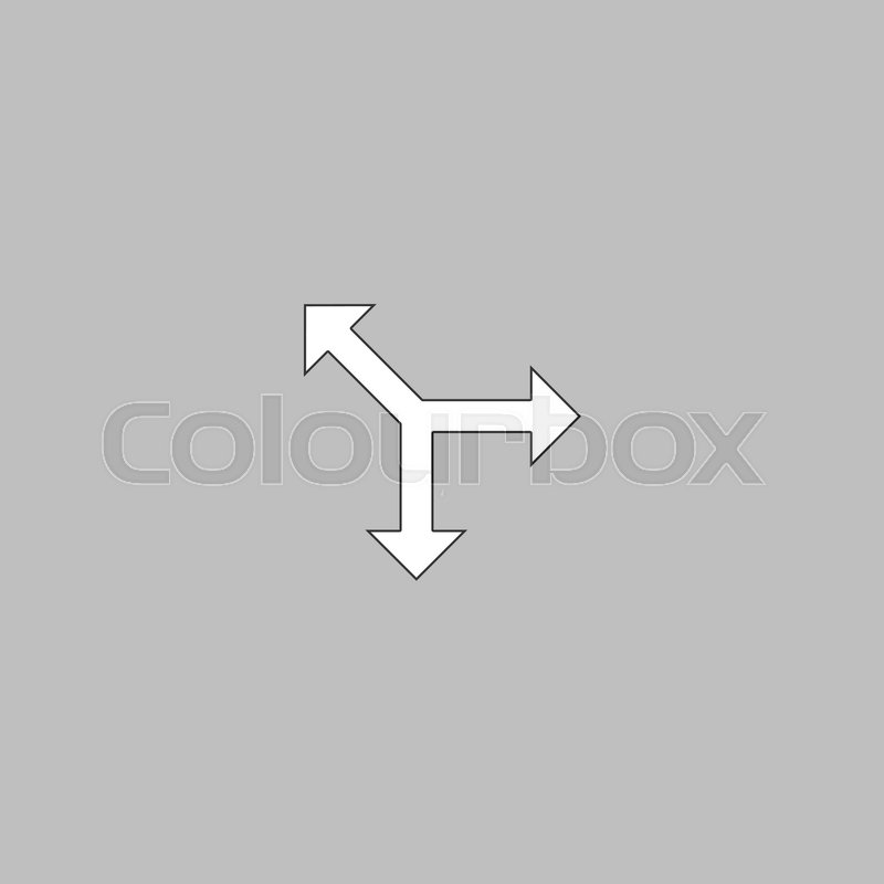 Road Arrow Simple Line Vector Button Thin Line Illustration Icon