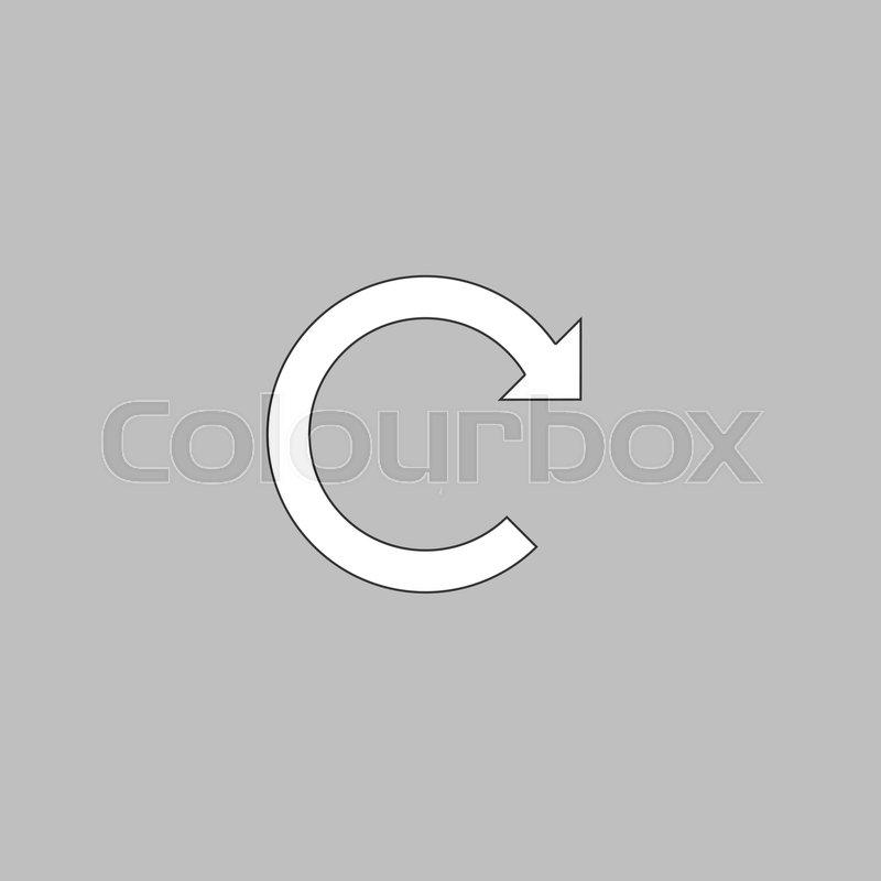 Rotation Arrow Simple Line Vector Button Thin Line Illustration