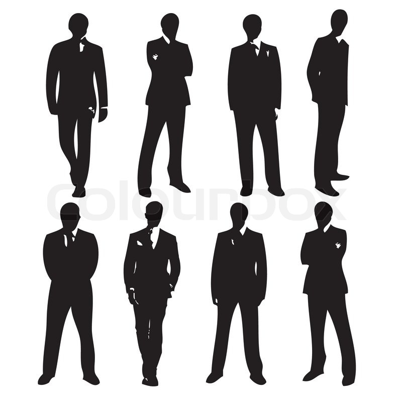 Running Man In Suit Silhouette Men in Suits Silhouett...