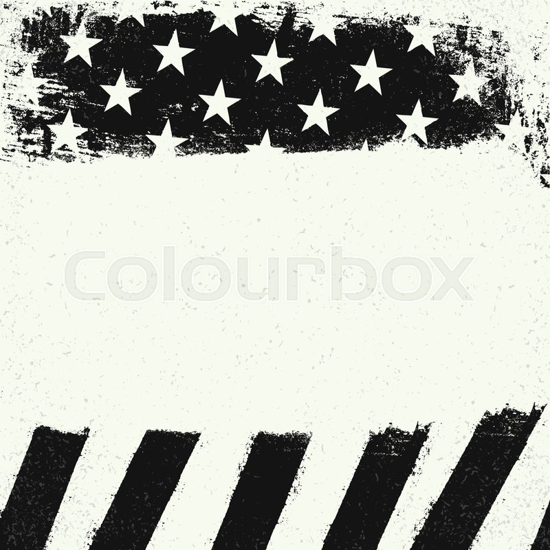 3a9d185563c5 Stock vector of  Empty white grunge copy space on black and white american  flag background