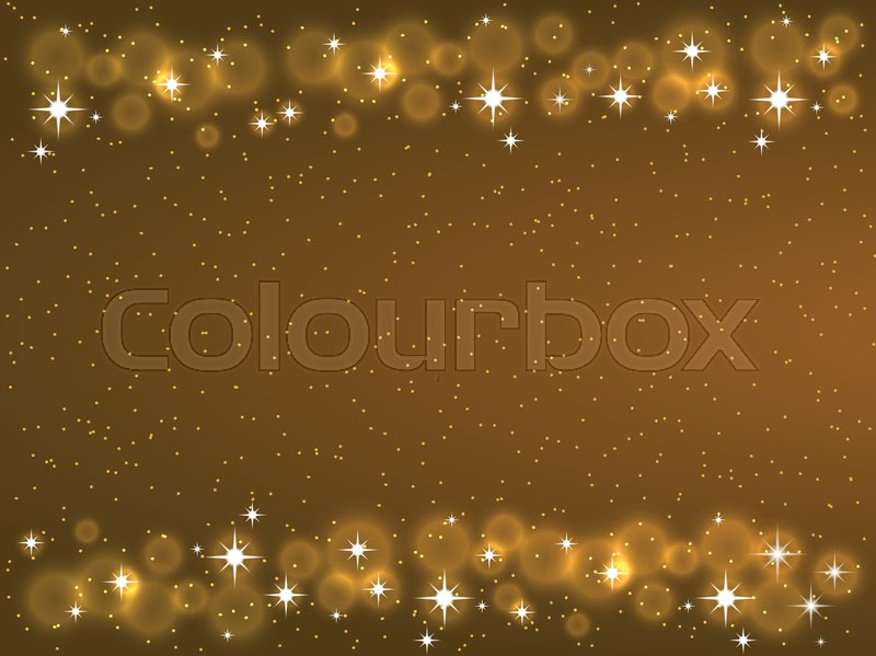 Frame With Stars On The Dark Background Sparkles Golden Symbols