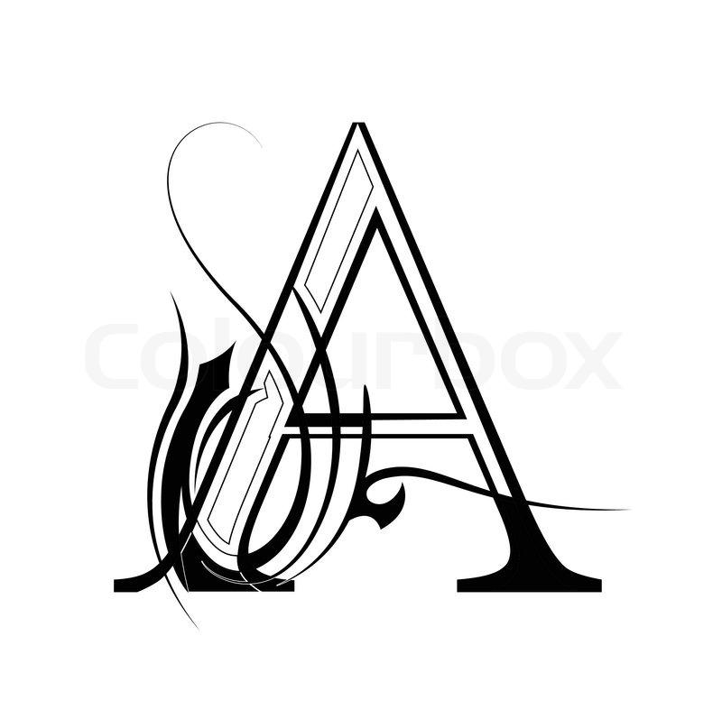 A Free Black Line Letters