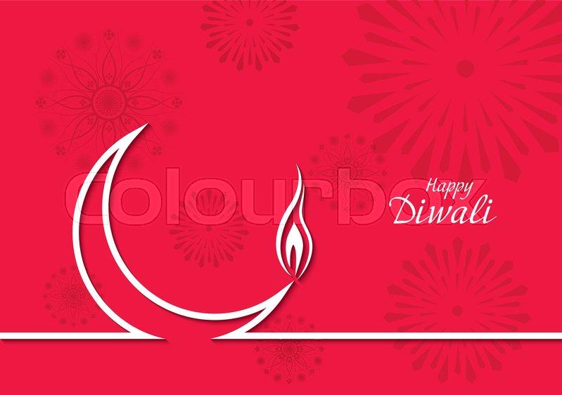 Creative vector design with crescent for greeting card diwali diya creative vector design with crescent for greeting card diwali diya stock vector colourbox m4hsunfo