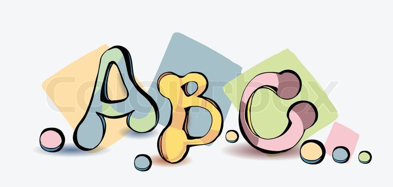 cartoon abc letters cartoon letters abc vector