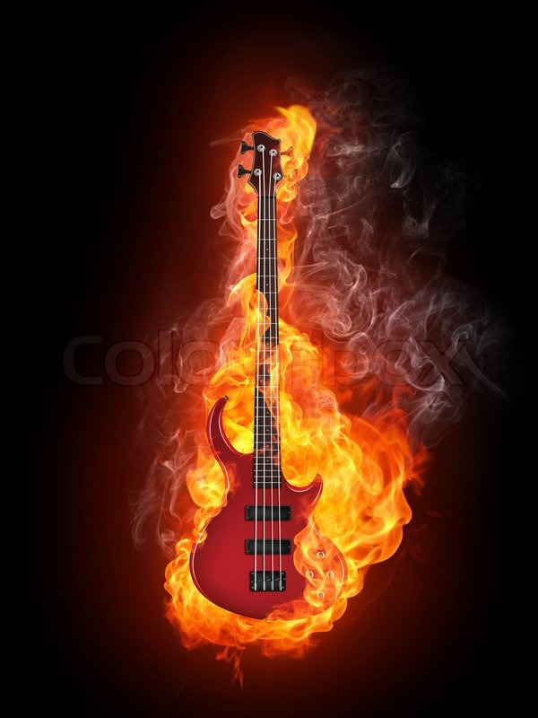 electric guitar art wallpaper fire - photo #13