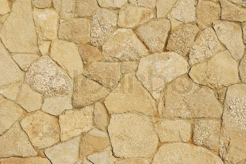 Decorative texture of sidewalk paved with natural sandstone with ...