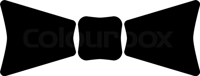 The Bow Tie Icon Bow Tie Symbol Flat Vector Illustration Stock