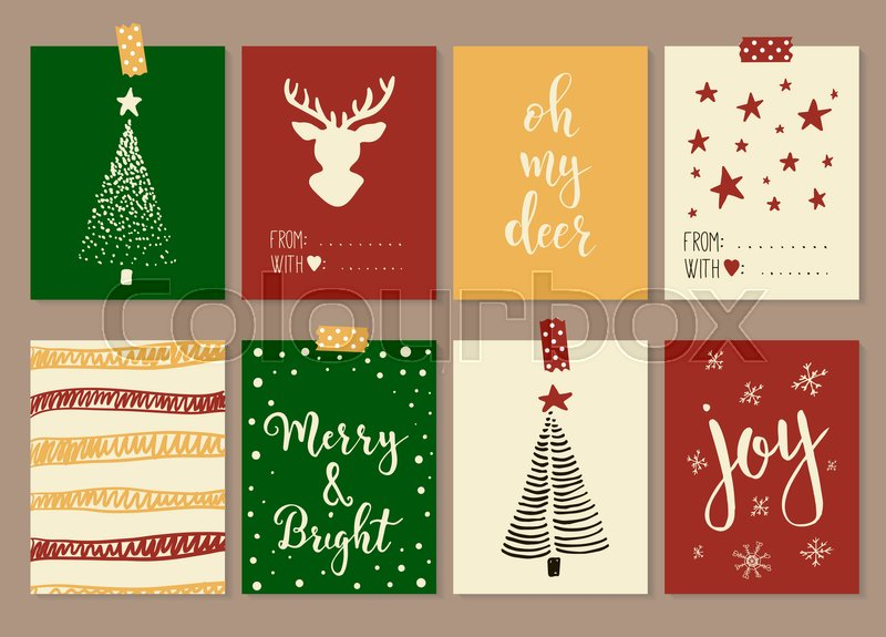 Merry christmas and happy new year vintage gift tags and cards merry christmas and happy new year vintage gift tags and cards with calligraphy handwritten lettering hand drawn design elements printable items stock negle Gallery