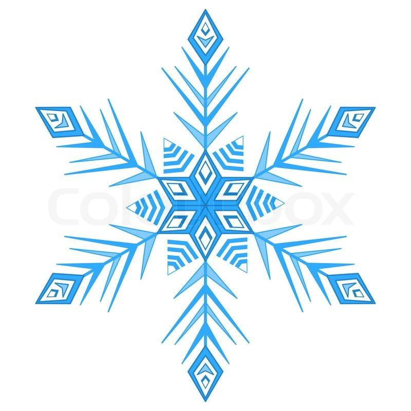 blau winter schneeflocke  monochrome konturen auf weißem