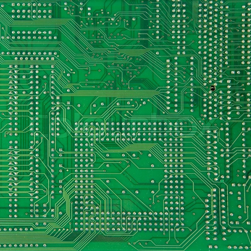 PCB motherboard of personal computer | Stock Photo | Colourbox