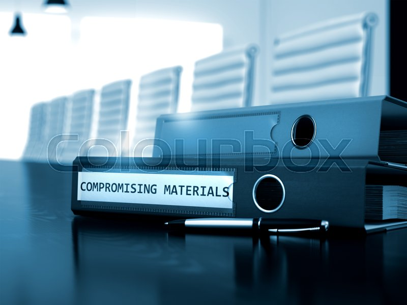 Stock image of 'Compromising Materials. Business Concept on Toned Background. Compromising Materials - Business Concept on Toned Background. Compromising Materials - Illustration. 3D.'