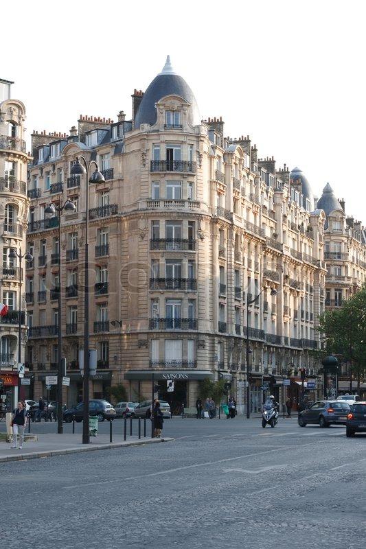 Paris street, stock photo