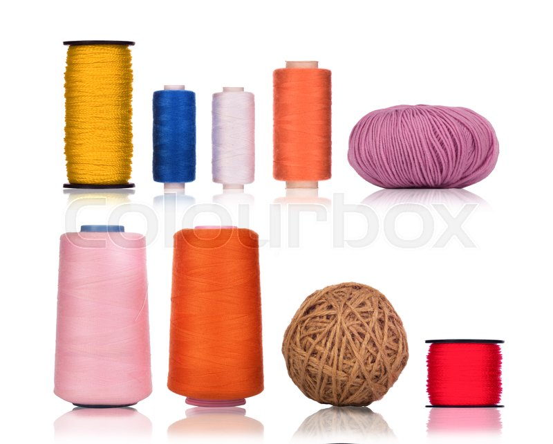 Stock image of 'Collection thread for sewing'