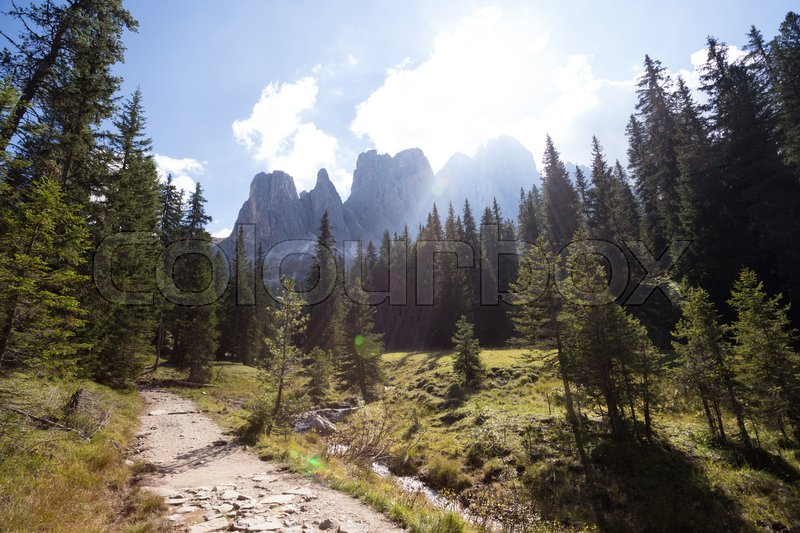 Stock image of 'puez odle nature park. Val Gardena to Alta Badia. Italy.\'