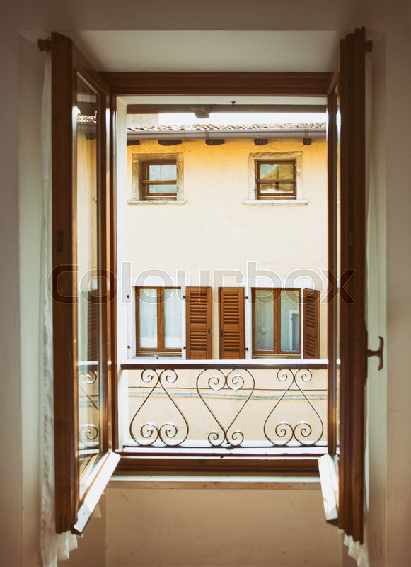 Stock image of 'view from the window in a small town Tremosine. Italy.\'
