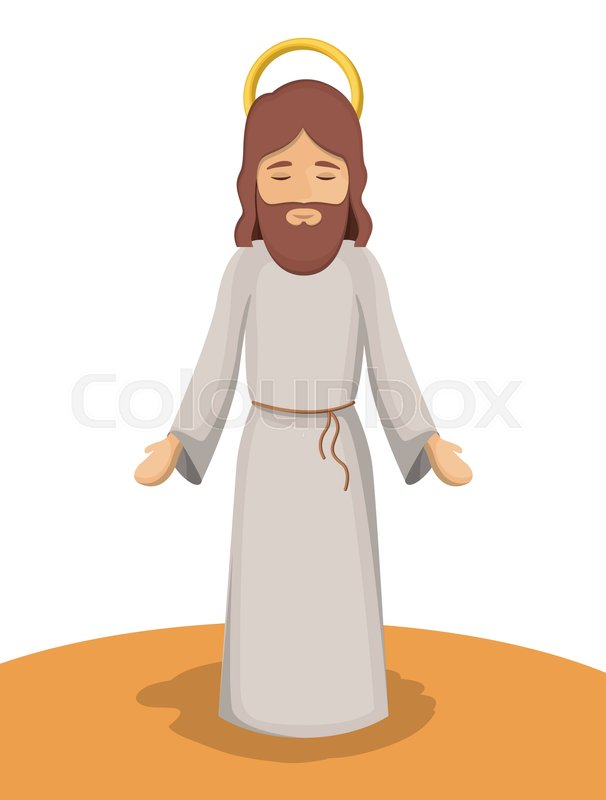 Jesus God Cartoon Design Vector 21792338 on Celebration Icon