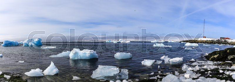 Stock image of 'Old harbor in Nuuk city - the capital of Greenland'