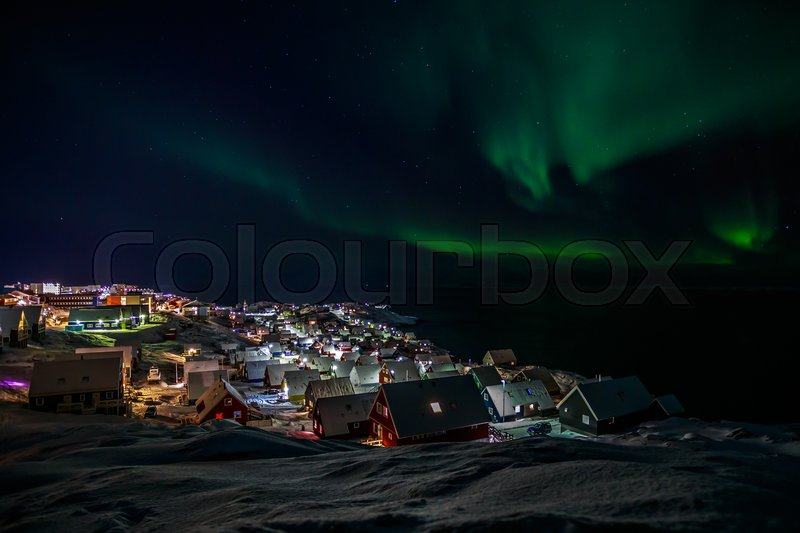 Stock image of 'Greenlanic Northern lights'