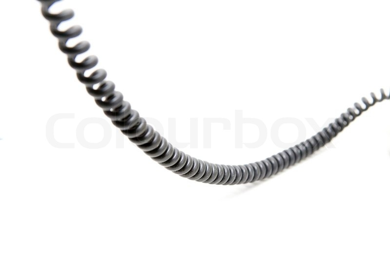 telephone wire on a white background
