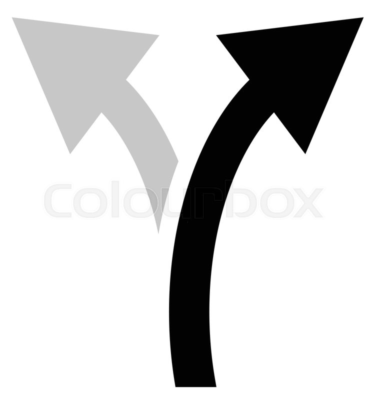 Two Way Arrow Symbol Arrow Icon Curved Arrows Left And Right