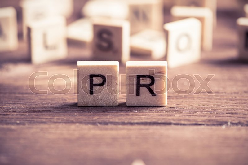Stock image of 'Business conceptual word collected of of wooden elements with the letters'