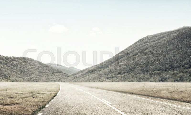 Stock image of 'Natural summer landscape with countryside road to horizon'