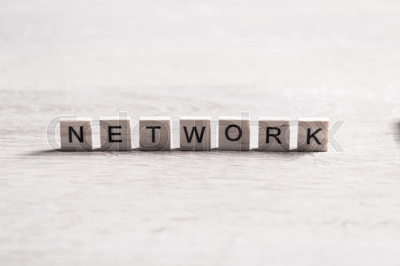Stock image of 'Internet network conceptual word collected of wooden elements with the letters'