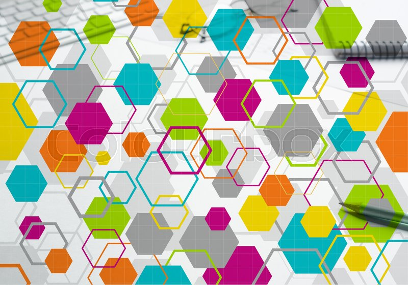 Stock image of 'Geometric abstract background. Medicine science or technology concept'